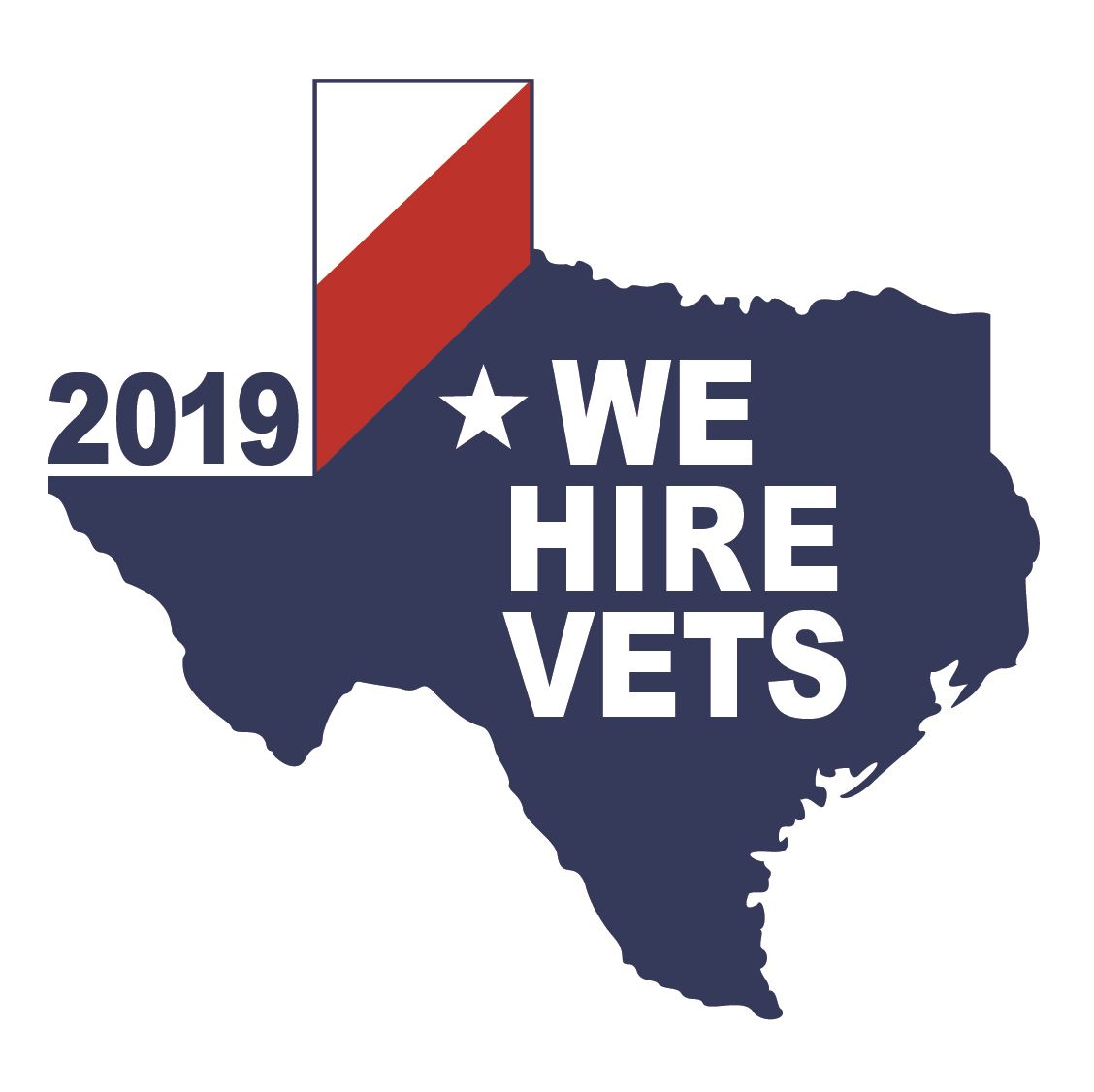 We Hire Vets window sticker 2019-01